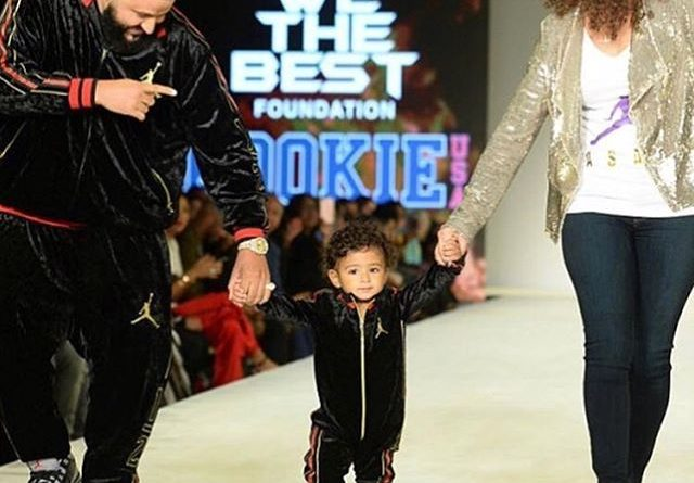 ASHAD KHALED cat walk at the Jordan kid clothing launch