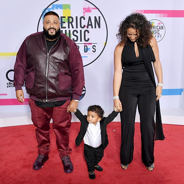 Dj Khaled and Wife Nicole Tuck at the American Music Awards