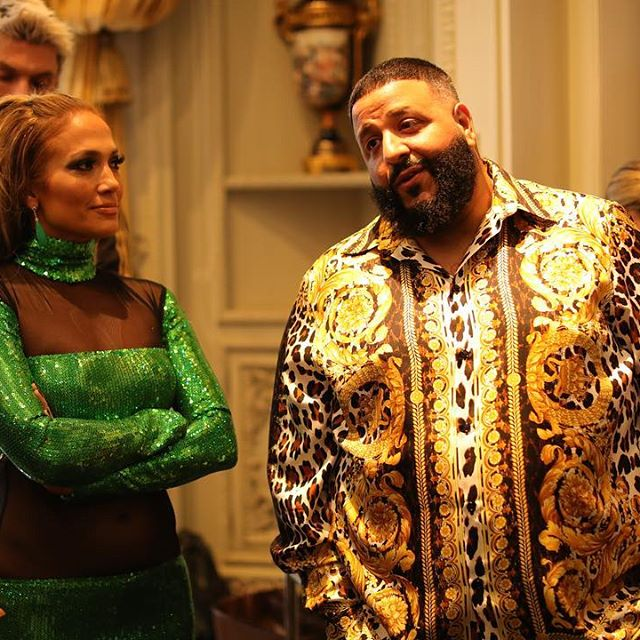 Dj Khaled and Jenny from the Block discussing DInero