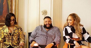 "Cardi B, Dj Khaled, Jennifer Lopez on the video shoot set for the song ""Dinero"""