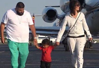Nicole Tuck, Asahd Khaled and Dj Khaled in the Bahamas on Vacation.