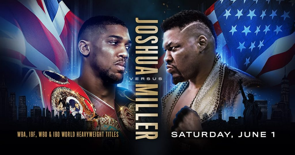 Anthony Joshua  Drake and Anthony Joshua Joshua vs Miller